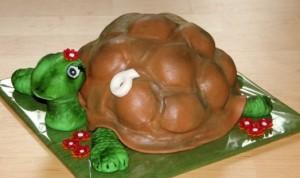 Торт Черепаха из мастики. Детский торт