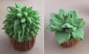 Как украсить пирожные или капкейки. Сделайте с кремом или из мастики симпатичные кактусы!-шаг 5