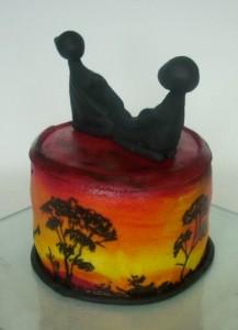 Торт из мастики Африка. Мастер-класс-шаг 5