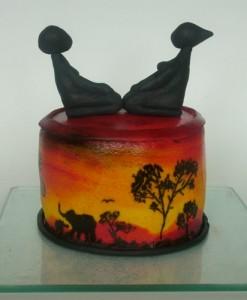 Торт из мастики Африка. Мастер-класс