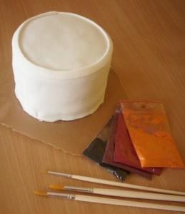 Торт из мастики Африка. Мастер-класс-шаг 1