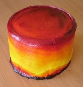 Торт из мастики Африка. Мастер-класс-шаг 2
