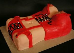 Торт для взрослых +18. Торт из мастики Женская грудь