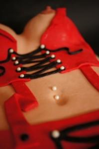 Торт для взрослых +18. Торт из мастики Женская грудь-шаг 8