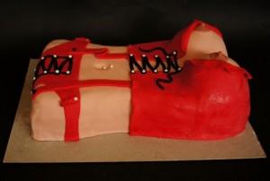 Торт для взрослых +18. Торт из мастики Женская грудь-шаг 7