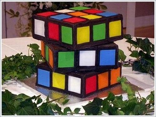 Торт Кубик Рубика, МК - У самовара - Украшение тортов 34