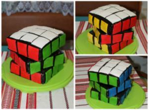Торт Кубик Рубик – видео-рецепт-шаг 1