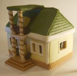Торт из мастики. 3D торт Домик для гномиков. Видео-рецепт-шаг 1