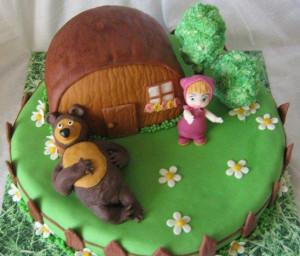 Торт из мастики. 3D торт Домик для гномиков. Видео-рецепт-шаг 2