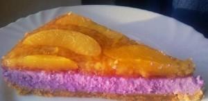 Творожный торт с фруктами и ягодами. Торт без выпекания