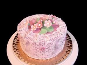 Айсинг (королевская глазурь) – как украсит торт. Видео-шаг 3