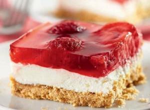 Пирожные с творогом и ягодным желе