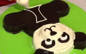 Торт Панда - видео-рецепт. Как украсить торт кремом