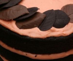 Украшения из шоколада – листочки. Мастер-класс-шаг 5