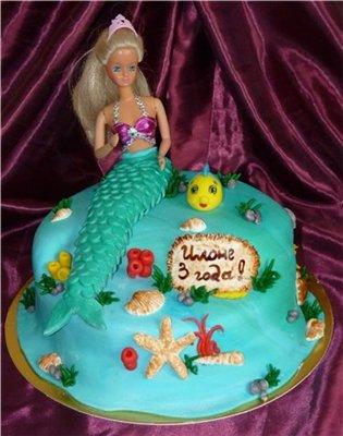 Как сделать торт куклу  видео 180