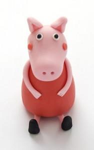 Животные из мастики – забавная свинья. Мастер-класс-шаг 1
