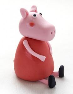 Животные из мастики – забавная свинья. Мастер-класс