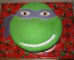 Торт черепашка Ниндзя-шаг 3