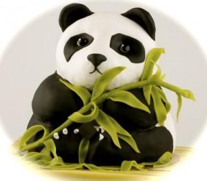 Животные из мастики – панда. Видео-рецепт-шаг 1