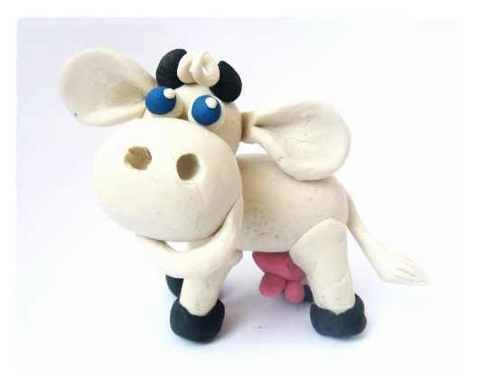Корова из полимерной глины мастер класс