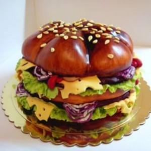 Торт из мастики Гамбургер – видео-рецепт