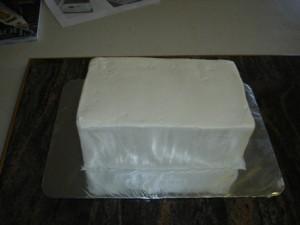 3D торт. Торт из мастики Детская кроватка-шаг 9