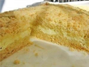 Творожный торт с песочным тестом