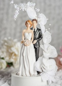 Фигурки на свадебный торт. Забавные фигурки жениха и невесты-шаг 8