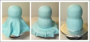 Торт из мастики. Торт Сова – мастер-класс-шаг 1