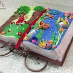 Детский торт Книга. Торт из мастики – мастер-класс