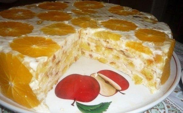 Торт с апельсинами рецепт