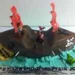 3D торт Кораблик из мастики понравится любому мальчугану!