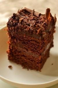 Шоколадный торт для вегетарианцев-шаг 1