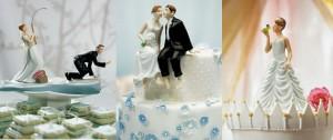 Фигурки на свадебный торт. Забавные фигурки жениха и невесты