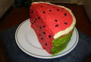Торт из мастики. Торт Арбуз – видео-рецепт