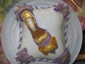 Украшение тортов – туфелька. Видео