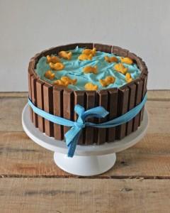 Как украсить торт. Приготовьте оригинальный торт Кадка с рыбками!