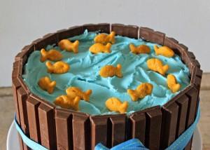 Как украсить торт. Приготовьте оригинальный торт Кадка с рыбками!-шаг 3