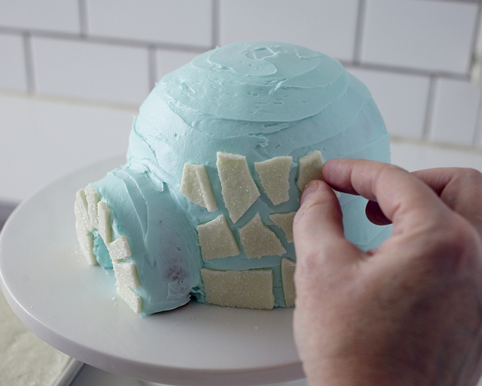 Как сделать синий цвет для торта