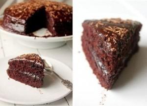 Шоколадный торт с шоколадной глазурью – наслаждение вкусом!