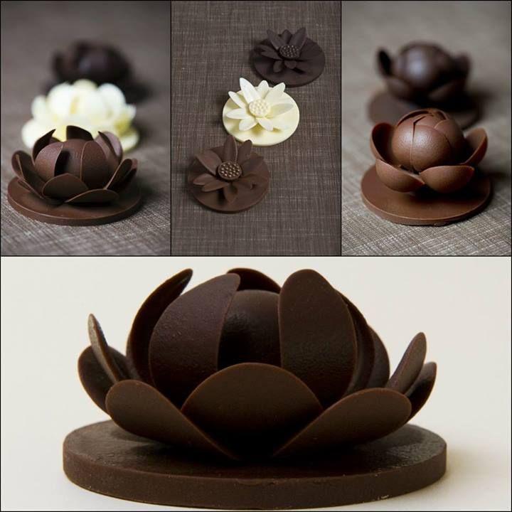 Как сделать украшения из шоколада 41