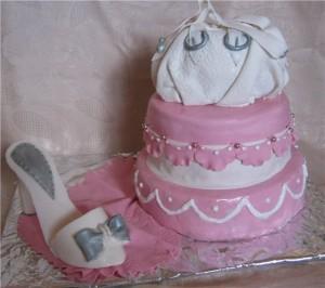 Украшение тортов – туфелька. Видео-шаг 1