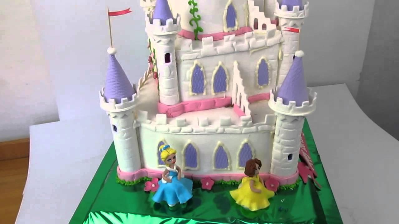 Торт замок принцессы фото пошагово