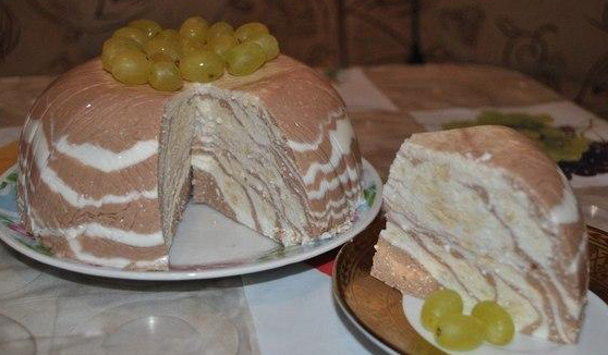 мраморное суфле торт рецепт с фото