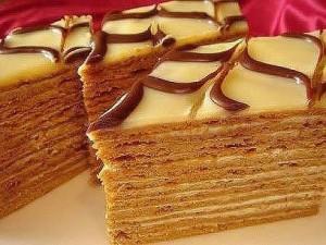 Медовый торт, приготовленный без масла — очень легкий и потрясающе вкусный!