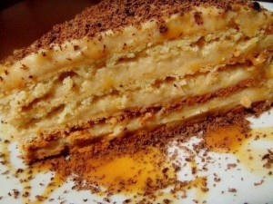 Шоколадный торт Крем-брюле