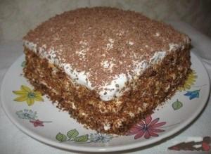 Простой торт на сгущенном молоке со сметанным кремом
