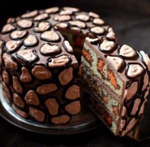 Торт Леопард простого приготовления