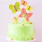 Торт Радуга с бабочками из мастики – оригинальное оформление торта