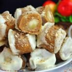 Пирожные с бананами. Пирожные без выпекания
